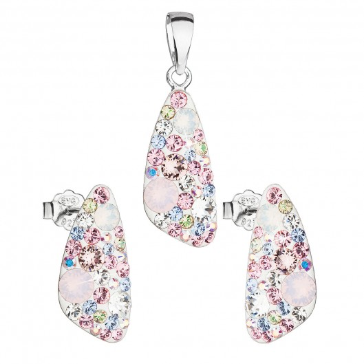 Sada šperků s krystaly Swarovski náušnice a přívěsek mix barev růžový  39167.3 magic rose b568d09a4d6
