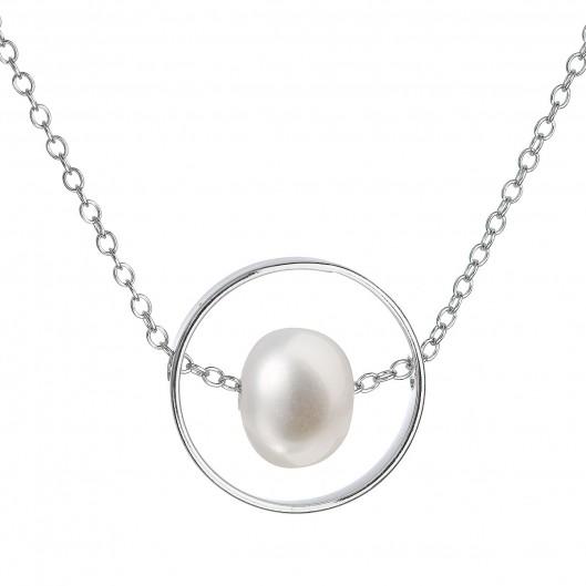 e1bb92c11 Perlový náhrdelník z pravých říčních perel bílý 22019.1