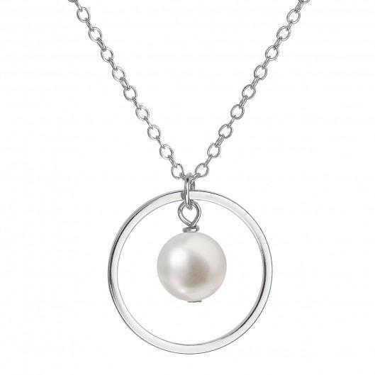322c31c9e Perlový náhrdelník z pravých říčních perel bílý 22018.1
