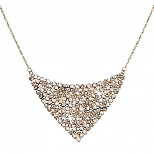 Stříbrný náhrdelník s krystaly Swarovski zlatý 32019.5