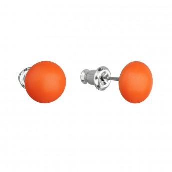 Náušnice bižuterie se Swarovski krystaly oranžové kulaté 51053.3