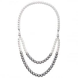 Perlový náhrdelník bílo-šedý 32041.3