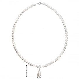 Perlový náhrdelník bílý 32035.1