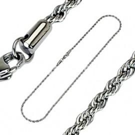 Ocelový řetízek kroucený, šíře 2,5 mm, délka 60 cm