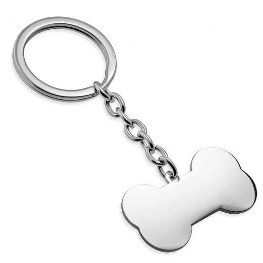 Ocelový přívěšek na klíče - psí kost