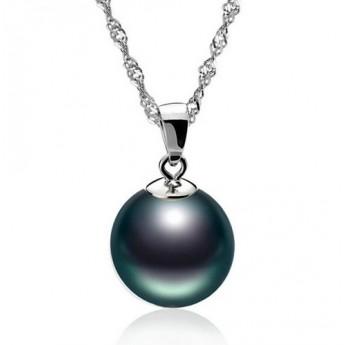 Stříbrný náhrdelník s kuličkou tmavě duhovou