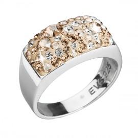 Stříbrný prsten s krystaly Swarovski zlatý 35014.5