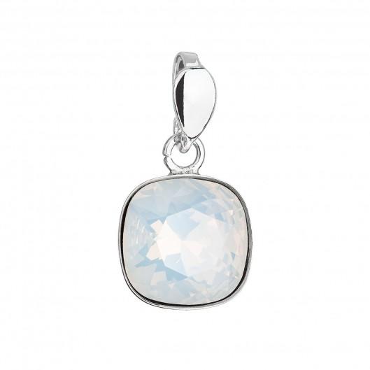 Stříbrný přívěšek Crystals from Swarovski® White Opal
