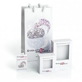 Stříbrný přívěšek čtverec s kamenem Crystals from Swarovski® White Opal