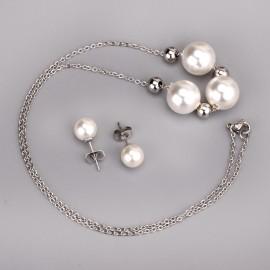 Set šperků z chirurgické oceli perličky