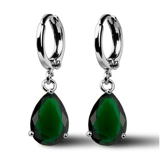b5a0926a3 Náušnice NUBIS Carmen se zelenými zirkony