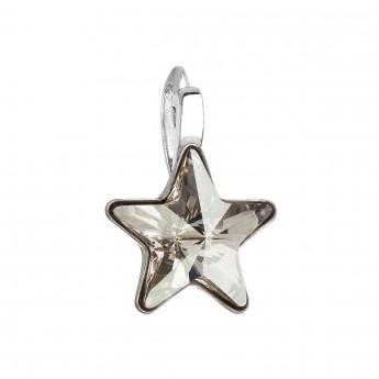 Stříbrný přívěšek hvězda s kamenem Crystals from Swarovski® Silver Shade