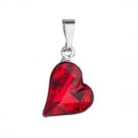 Přívěsek bižuterie se Swarovski krystaly červené srdce 54033.3