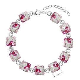 Stříbrný náramek se Swarovski krystaly mix barev 33047.3 sweet love