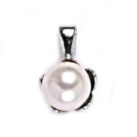 Stříbrný přívěšek perla 8mm Crystals from Swarovski® Rosaline