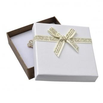 Dárková krabička na soupravu s béžovou mašlí