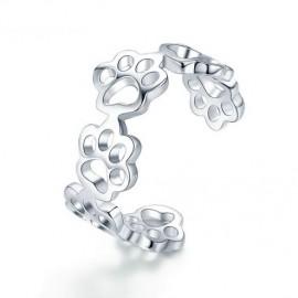 Stříbrný prsten tlapky univerzální