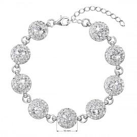 Stříbrný náramek se Swarovski krystaly bílý 33048.1