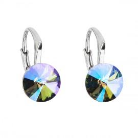 Stříbrné náušnice s Crystals from Swarovski® Paradise Shine