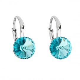 Stříbrné náušnice s Crystals from Swarovski® Turquoise