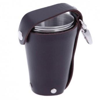 Ocelové pohárky kalíšky 100 ml - panáky 4 ks
