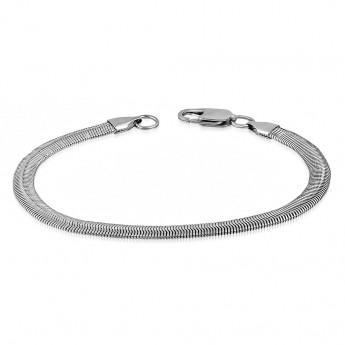 Ocelový náramek had plochý, délka 20 cm