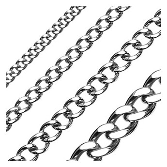 Ocelový řetízek, šíře 10 mm, délka 60 cm