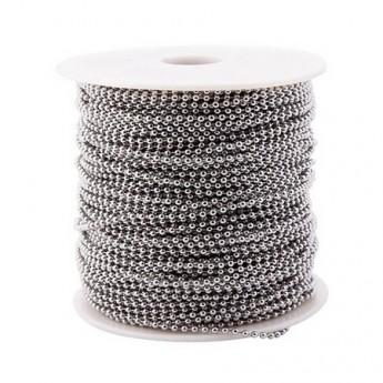 Ocelový řetěz kuličkový v metráži, tl. 1,5mm