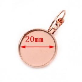 Zlacené náušnicové zapínání - dámský patent, lůžko 20 mm