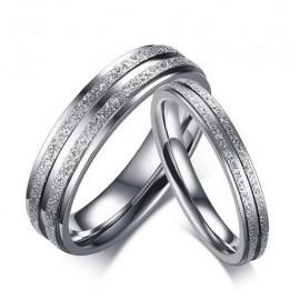 Snubní prsteny chirurgická ocel s pískováním