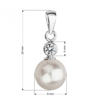 d5c38d5e7 Stříbrný přívěšek s bílou perlou Crystals from Swarovski® Stříbrné ...