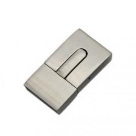Ocelový uzávěr na náramek, matný povrch, 10 x 3 mm