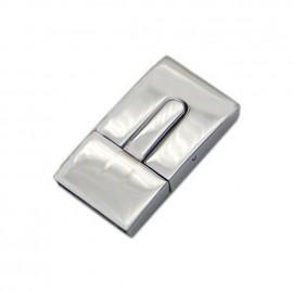 Ocelový uzávěr na náramek, lesklý povrch, 8 x 3 mm