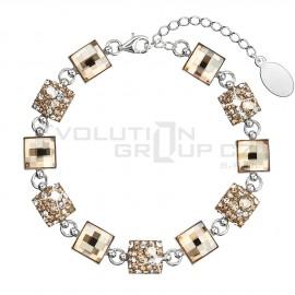 Stříbrný náramek se Swarovski krystaly zlatý 33047.5
