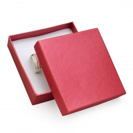 Dárková krabička na soupravu šperků - perleťově červená