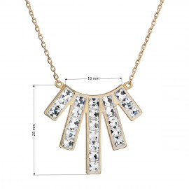 Stříbrný náhrdelník s krystaly Swarovski bílý obdélník 32024.1 krystal au