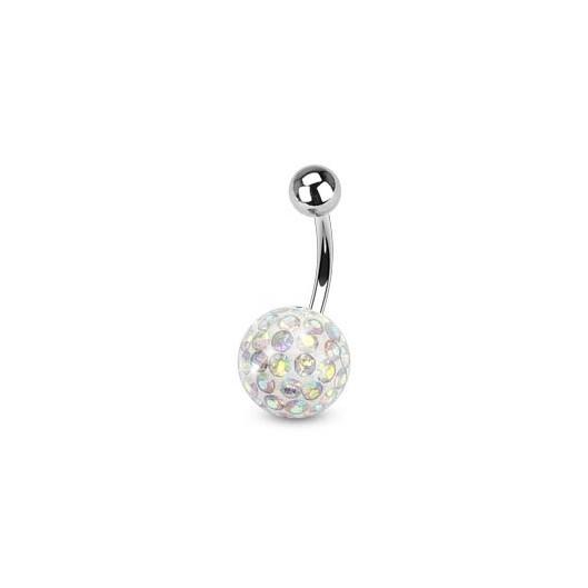 Piercing do pupíku s kamínky Crystals From Swarovski® AB
