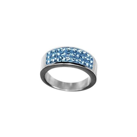 Prsten RSSW04 light sapphire s krystaly Swarovski Elements