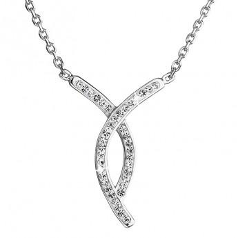 Stříbrný náhrdelník s krystaly Swarovski bílý 32018.1 Náhrdelníky s ... 69d4af2a5a7