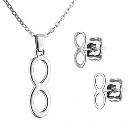 Set šperků z chirurgické oceli, nekonečno
