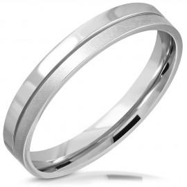 Ocelový snubní prsten šíře 3,5 mm