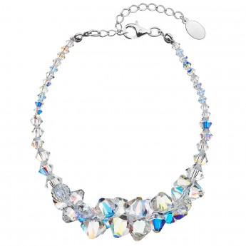 Stříbrný náramek se Swarovski krystaly AB efekt 33075.2