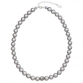 Perlový náhrdelník šedý 32011.3