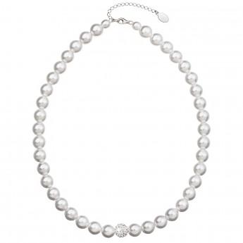 4acf1bdee Perlový náhrdelník bílý 32011.1 Náhrdelníky s krystaly Swarovski®