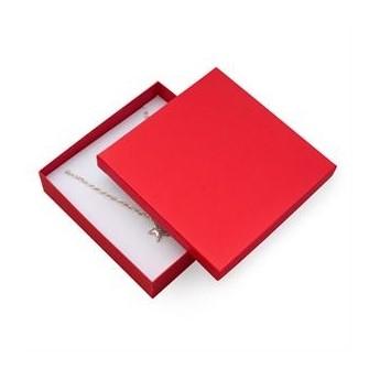 Dárková krabička na soupravu šperků velká - červená