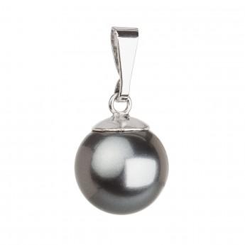 Stříbrný přívěsek s šedou kulatou perlou 34150.3