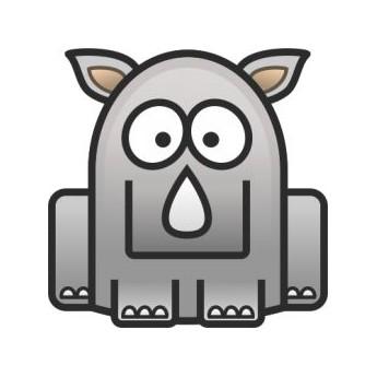 Semišová dárková krabička - zajíček šedý