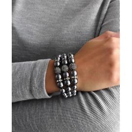 Perlový náramek šedý 33064.3