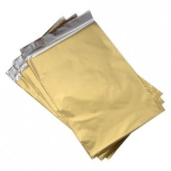 Dárkový sáček zlatý matný 75 x 120 mm