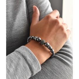 Perlový náramek šedý 33062.3